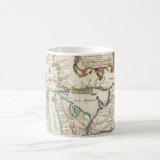 Vintage Map of The Great Lakes (1755) Coffee Mug
