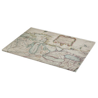 Vintage Map of The Great Lakes (1755) Cutting Board