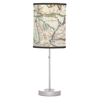 Vintage Map of The Great Lakes (1755) Desk Lamp