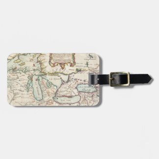 Vintage Map of The Great Lakes (1755) Luggage Tag