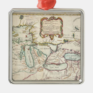Vintage Map of The Great Lakes (1755) Metal Ornament