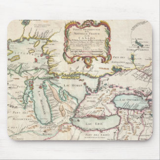 Vintage Map of The Great Lakes (1755) Mouse Pads
