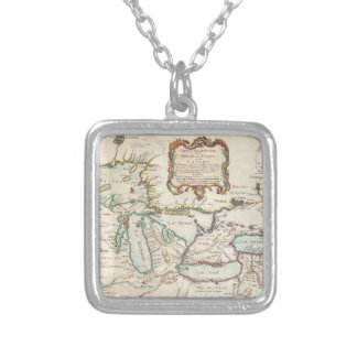 Vintage Map of The Great Lakes (1755) Jewelry