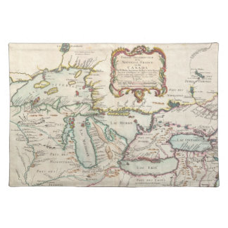 Vintage Map of The Great Lakes (1755) Cloth Placemat