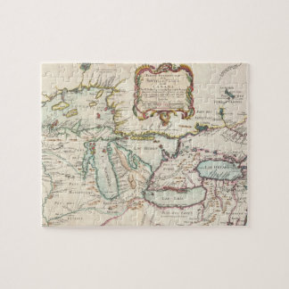 Vintage Map of The Great Lakes (1755) Puzzles