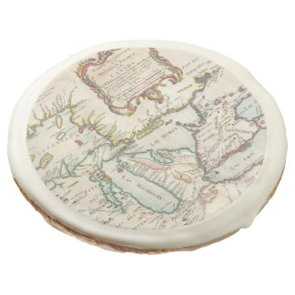 Vintage Map of The Great Lakes (1755) Sugar Cookie