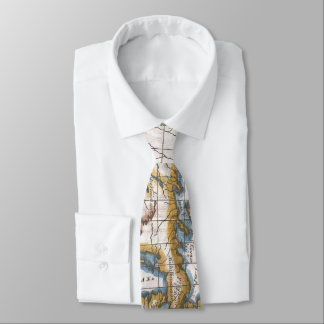 Vintage Map of The Great Lakes & Canada (1780) Tie