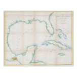 Vintage Map of The Gulf of Mexico (1852) Poster
