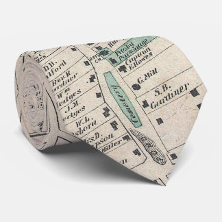 Vintage Map of The Hamptons (1873) Neck Tie