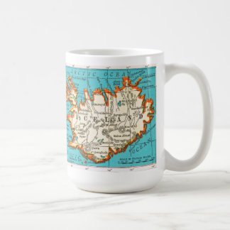 Vintage Map of the ICELAND Mug