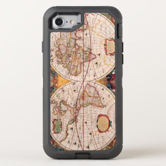 Vintage Map of the Known World Circa 1600 OtterBox Defender iPhone 7 Case