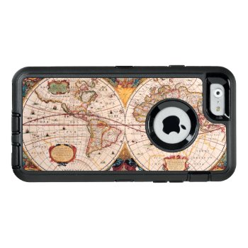 Vintage Map Of The Known World Circa 1600 Otterbox Defender Iphone Case by pjwuebker at Zazzle