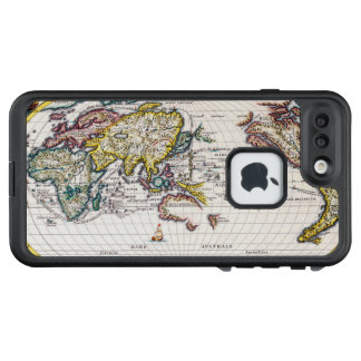 Vintage Map of the Known World Circa 1700 LifeProof FRĒ iPhone 7 Plus Case