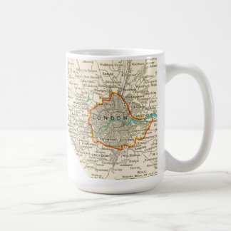 Vintage Map of the LONDON ENGLAND Mug