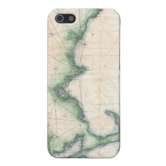 Vintage map of the Massachusetts Coastline iPhone 5 Covers
