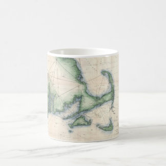 Vintage map of the Massachusetts Coastline Mugs