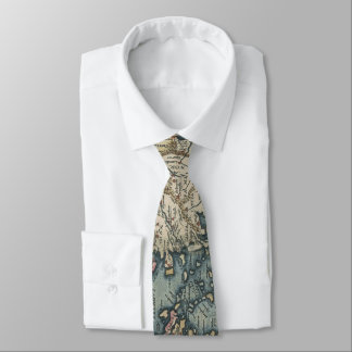 Vintage Map of The Mediterranean (1584) Tie