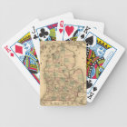 Vintage Map of The Michigan Railroads (1876) Bicycle Playing Cards