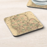 Vintage Map of The Michigan Railroads (1876) Drink Coaster