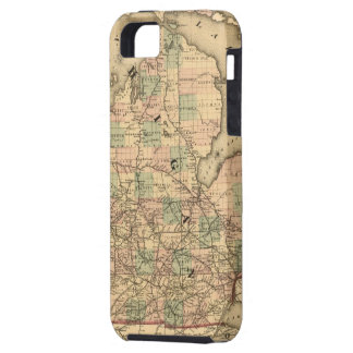 Vintage Map of The Michigan Railroads (1876) iPhone SE/5/5s Case
