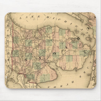 Vintage Map of The Michigan Railroads (1876) Mouse Pad