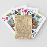 Vintage Map of The Michigan Railroads (1876) Card Decks