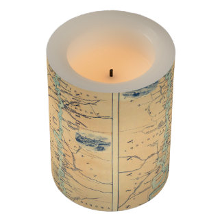 Vintage Map of The Mississippi River (1863) Flameless Candle