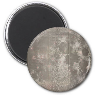 Vintage Map of The Moon (1961) 2 Inch Round Magnet