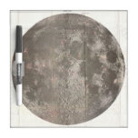 Vintage Map of The Moon (1961) Dry-Erase Whiteboard