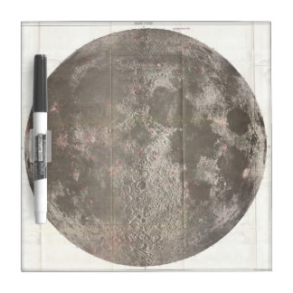 Vintage Map of The Moon (1961) Dry Erase Boards