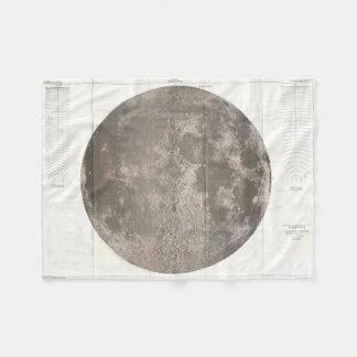 Vintage Map of The Moon (1961) Fleece Blanket