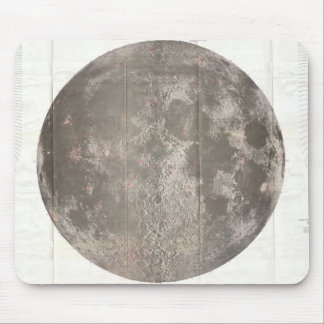 Vintage Map of The Moon (1961) Mouse Pad