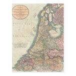 Vintage Map of the Netherlands (1799) Postcard