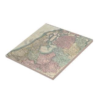 Vintage Map of the Netherlands (1799) Tile
