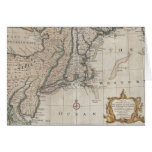 Vintage Map of The New England Coast (1747) Greeting Cards