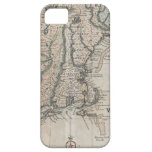 Vintage Map of The New England Coast (1747) iPhone 5 Cover