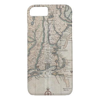 Vintage Map of The New England Coast (1747) iPhone 8/7 Case