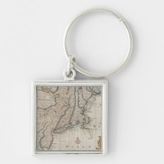 Vintage Map of The New England Coast (1747) Keychain