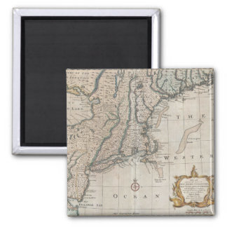 Vintage Map of The New England Coast (1747) Refrigerator Magnet