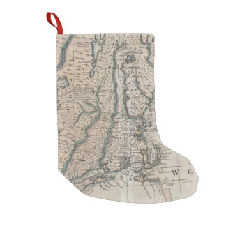 Vintage Map of The New England Coast (1747) Small Christmas Stocking