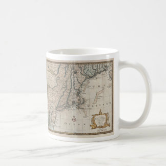 Vintage Map of The New England Coast (1747) Mugs