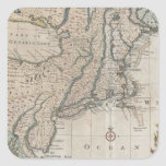 Vintage Map of The New England Coast (1747) Stickers