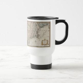 Vintage Map of The New England Coast (1747) Travel Mug