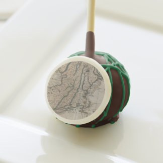 Vintage Map of The New England Coast (1747) Cake Pops