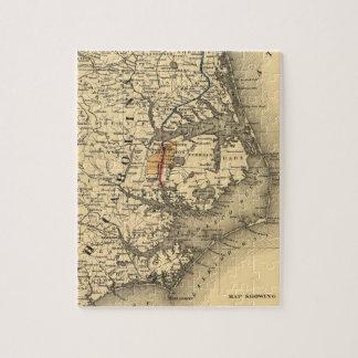 Vintage Map of The North Carolina Coast (1887) Jigsaw Puzzle