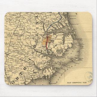 Vintage Map of The North Carolina Coast (1887) Mouse Pad