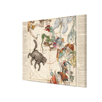 Vintage Map of the North Pole Canvas Print