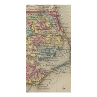Vintage Map of The Outer Banks (1859) Poster