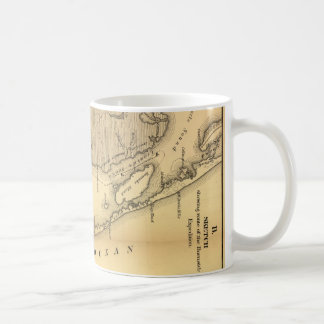 Vintage Map of The Outer Banks (1862) Classic White Coffee Mug