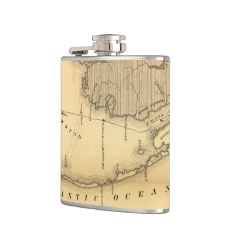 Vintage Map of The Outer Banks (1862) Flask
